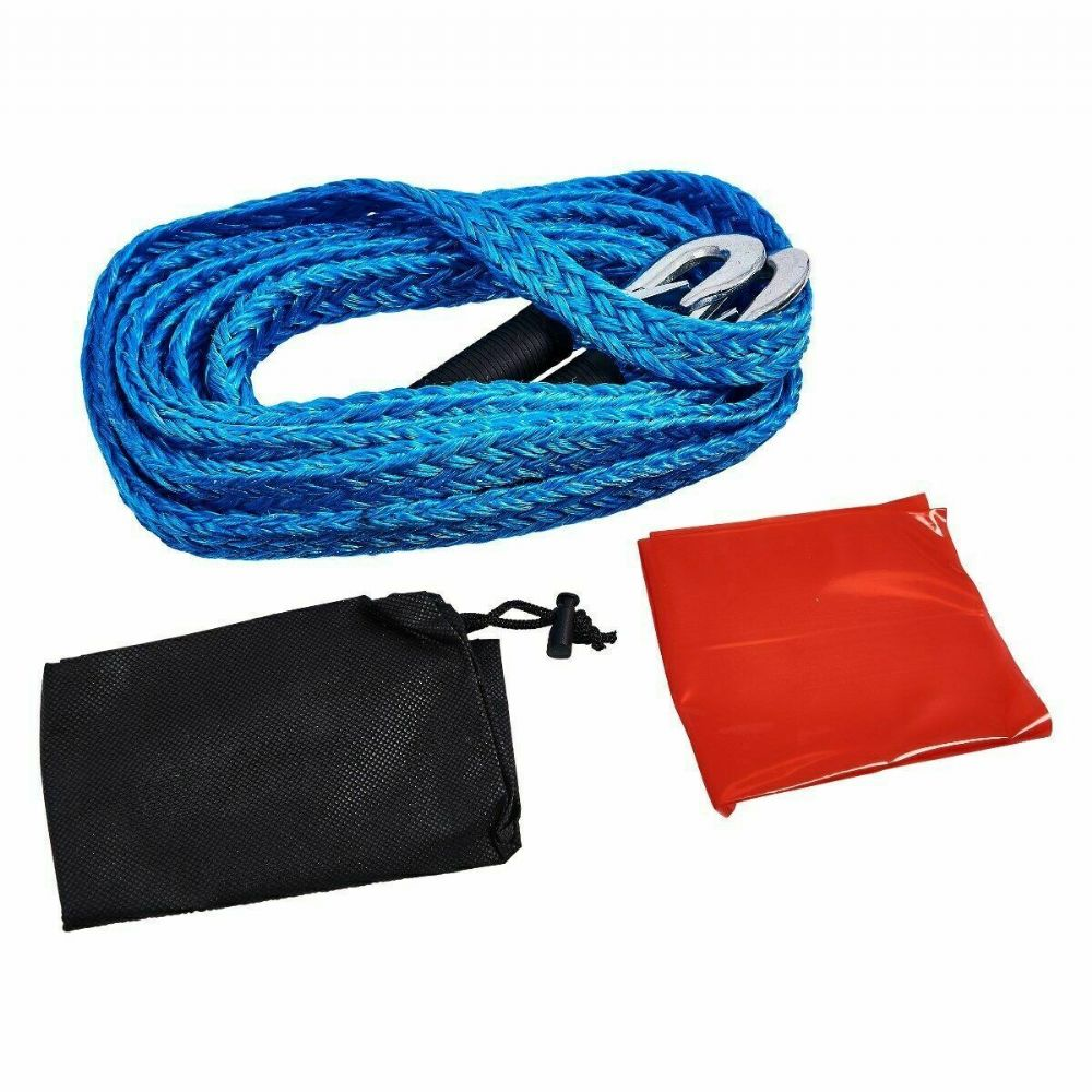 4m 1.2t Tow Rope (gs) - Gs 2000kg Max Load Tough Forged Steel Hooks J0103